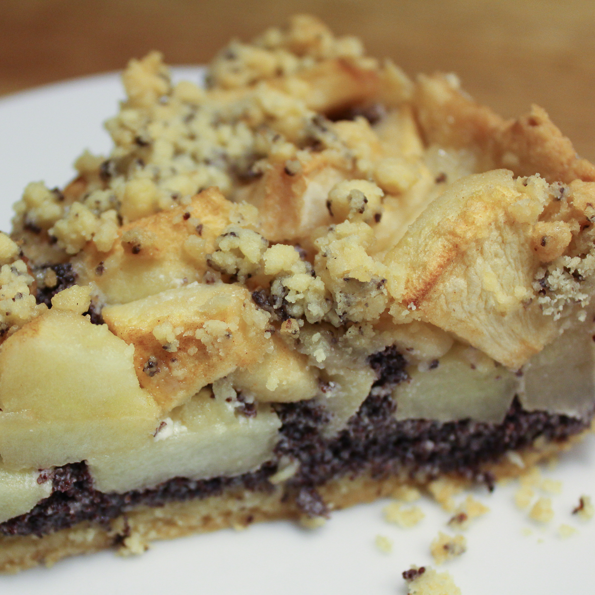 Mohn-Apfel Kuchen Foto