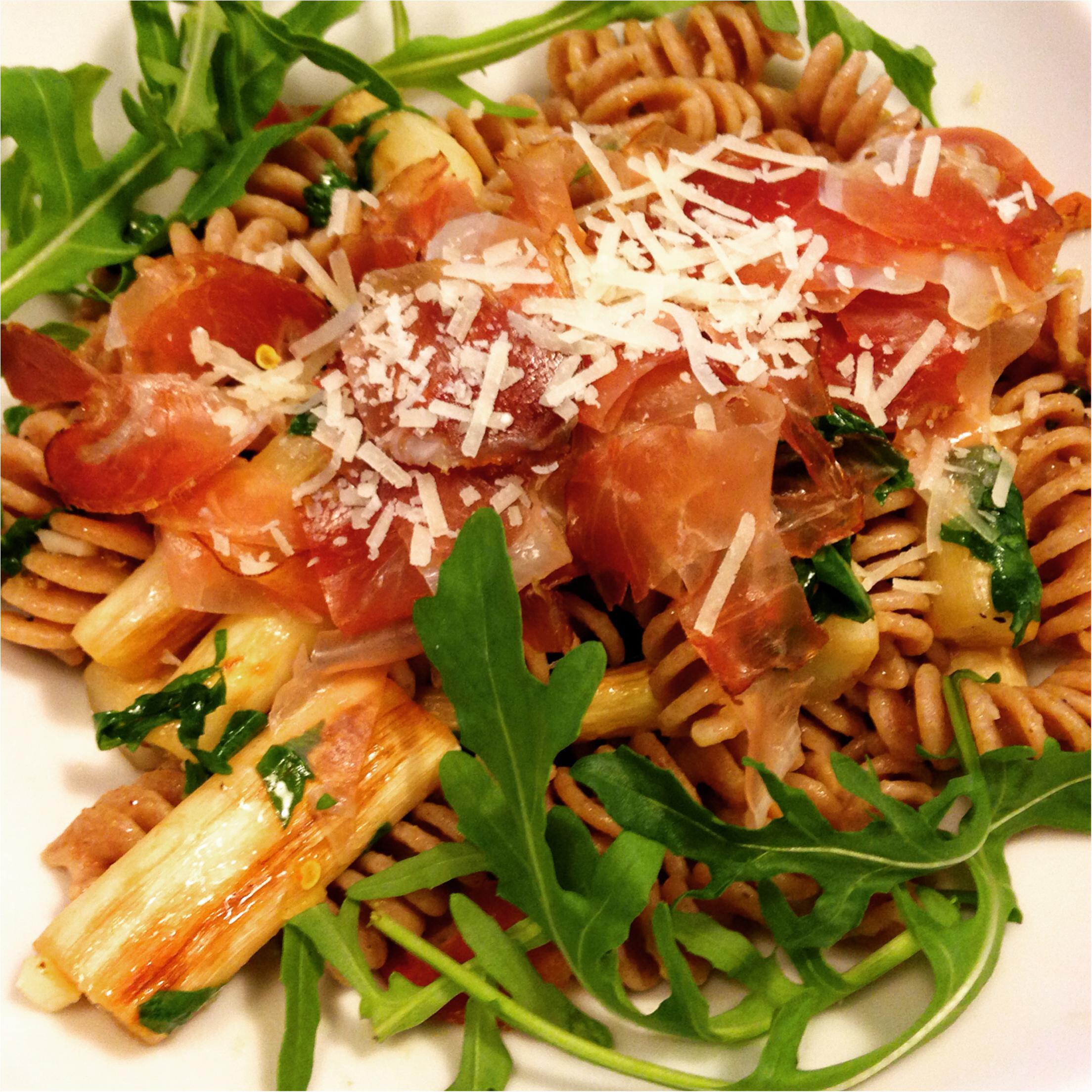 Spargel Pasta mit Limetten & Rucola Foto