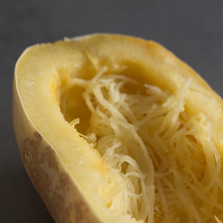 Spaghetti Kürbis alla Carbonara Foto